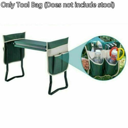 Folding Garden Kneeler Seat Bonus Tool Pouch Portable Stool Pad Chair Bag USA