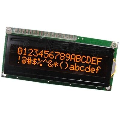 Lcd1602a 16x2 5v Orange Character Dot Matrix Lcd Display Module Black Background