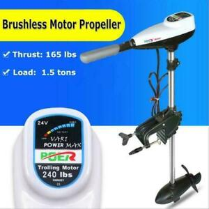24V 165LBS 36 Trolling Motor Brushless Marine Propeller Powerful 028197