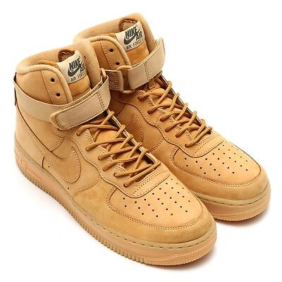 NIKE AIR FORCE 1 HIGH '07 LV8 HI WB WHEAT FLAX NEW SZ 13 882096 200 One
