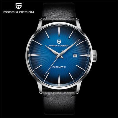 Luxury PAGANI DESIGN Pilot Military Automatic Self-Wind Watches Leather Band (Design Pilot)