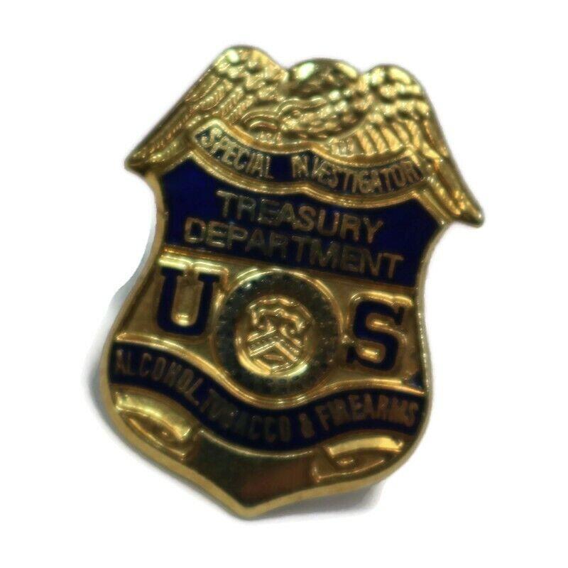AFT Special Investigator US Tresury Vintage Police Badge Lapel Hat Pin