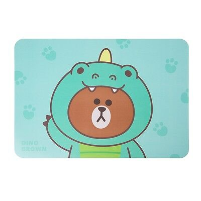 Line Friends Official Goods 1P Table Mat Dino Brown Double Sided Living Kitchen