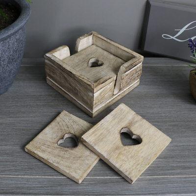 Разное Natural wooden set 6 coasters