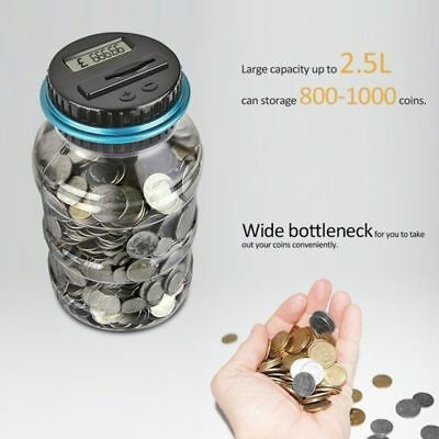 Counting Piggy Bank (Electronic Digital Coin Counter Automatic Money Counting Jar Saving Piggy)