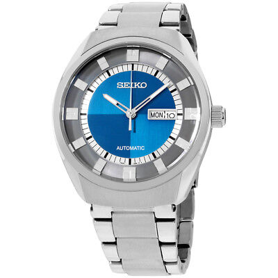 Seiko Recraft Automatic Stainless Steel Blue Dial Men