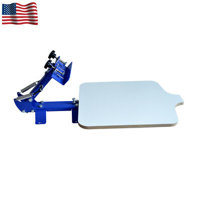 1 Color Screen Printing Machine Starter Shirt Press Printer With Pallet Bracket