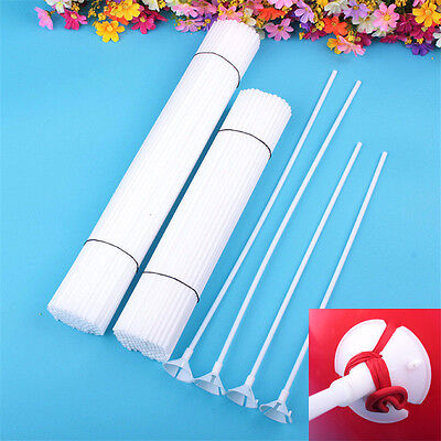 New Plastic Balloon Rods Sticks Cup Holder with Cap Party Wedding Keep Ballon Up - Ballon Holders