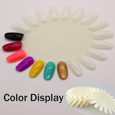 10PCS Nail Art Display Color Chart Nail Polish Color Card Template False Nail
