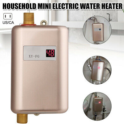 3800W Instant Electric Tankless Hot Water Heater Shower Kitc