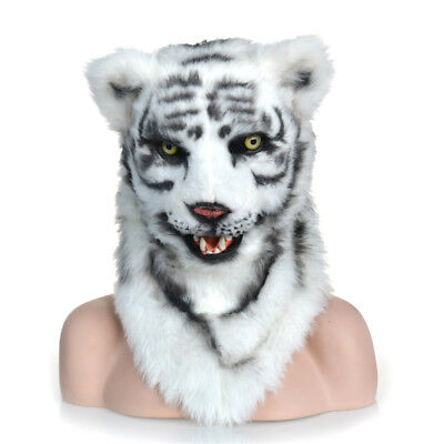Fursuit Animal Costume Artificial Animal Headgear White Tiger Mask COS](White Tiger Costumes)