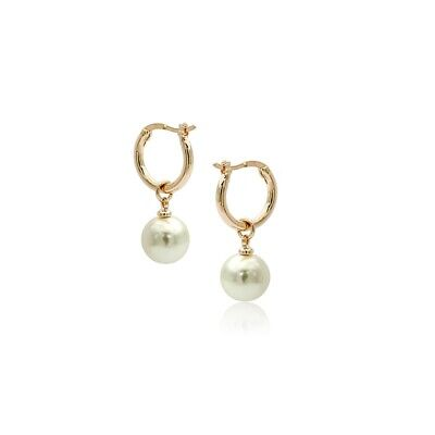 Gorgeous White Pearl Rose Gold Coloured Hoop (Gold Coloured Pearl)