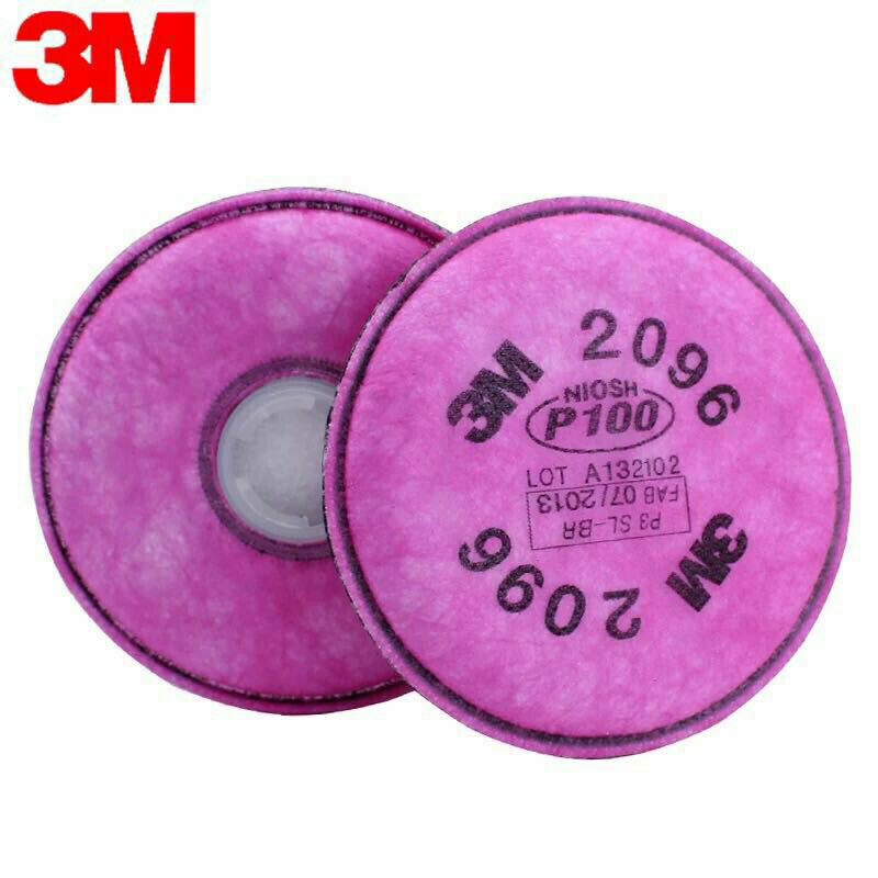 3M 2096 Particulat Filter P1OO/Acid Gas Relief  For 6000, 7000 Facepiece Business & Industrial