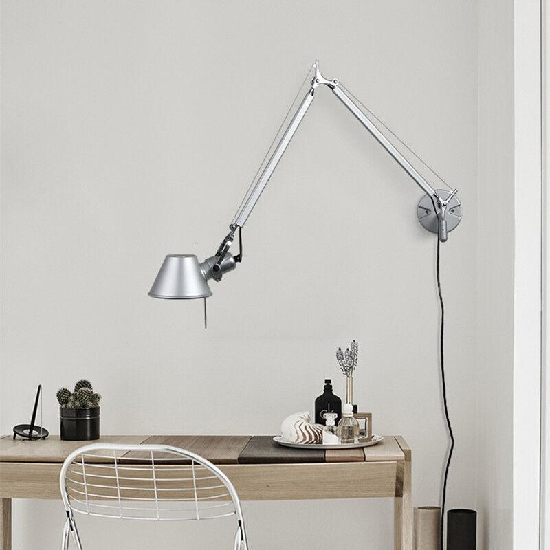 Adjustable Modern Long Swing Arm Wall Lamp Plug-In Wall Scon