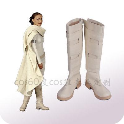 NEW! Star Wars2 Padme Naberrie Amidala Cosplay Boots Shoes Custom Made