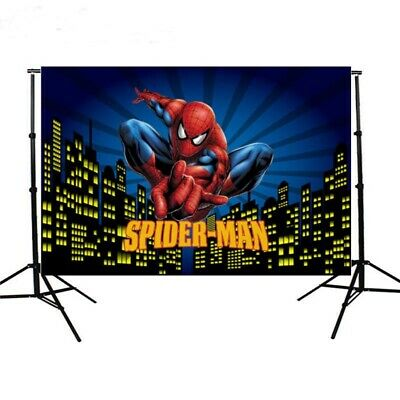 Super Hero Spiderman Birthday Party Photography Backdrop Vinyl Photo Background](Super Hero Background)