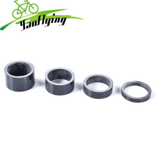 4X CARBON FIBER HEADSET 5//10//15//20MM THICK SPACERS FOR 28.6MM STEM BIKE MTB FIRM