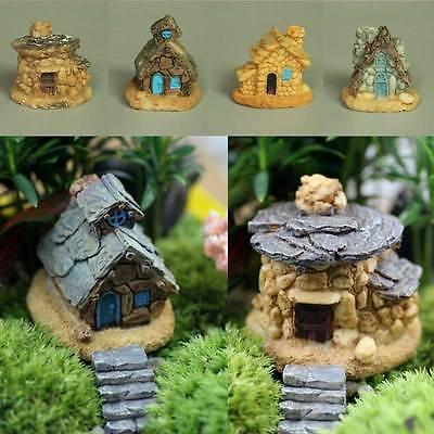 Stone House Fairy Garden Miniature Craft Micro Cottage Landscape Decoration