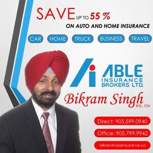 SAVE UPTO 55% ON AUTO AND HOME INSURANCE.
