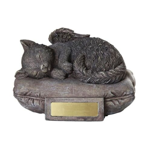 Cat Urn for Cremations Ashes Statue Pet Memorial Figurine