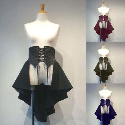 Mittelalter Damen Gothic Lolita Mädchen Lace up Tuxedo Röcke Cosplay Kostüm ()