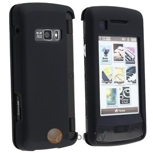 BLACK RUBBER COATED HARD SKIN CASE COVER For LG VX11000 enV VERIZON TOUCH