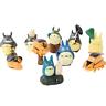 10pcs Totoro Anime Action Figure Toys Set Chu Totoro Chibi Catbus Doll Wholesale