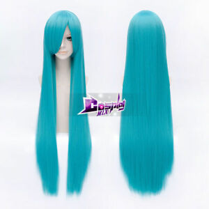 Renai Saiban Hatsune Miku Sky Blue 40'' Long Straight Anime Cosplay Wig