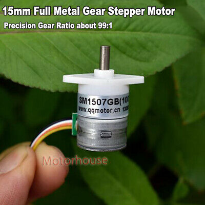 Micro 15mm 2-phase 4-wire Gear Stepper Motor Mini Precision Reduction Gearbox