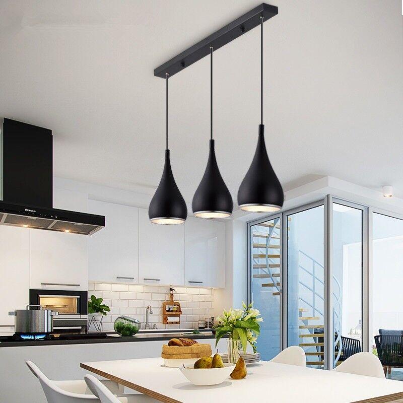 Details About Bar Lamp Kitchen Modern Pendant Light Black Lighting Home Ceiling Lights