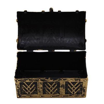 Vintage Wooden Pirate Treasure Chest Trinket Jewellery Storage Fern Box H