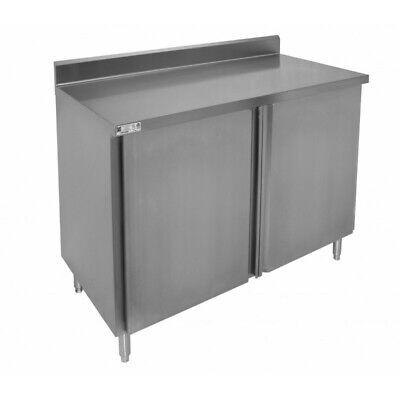 New 30x60 Stainless Steel Cabinet W Back Splash 2 Swing Doors Gsw P3060h 5510