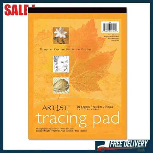 """Pacon UCreate Tracing Pad White 9"""" x 12"""", 50 Sheets Acid-free and Recyclable"""