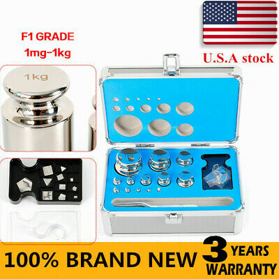 F1 Grade 1mg-1kg Precision Scale Calibration Weight Kit Set Stainless Steel Us