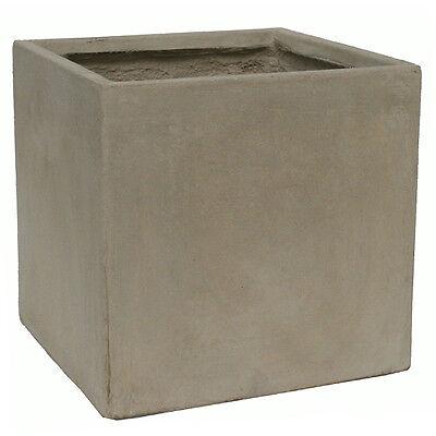45cm CLEARANCE Claylite Sand Plain Cube Planter/Flower Pot/Box/Square