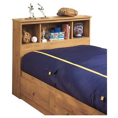 South Shore Little Treasures Twin Bookcase Headboard (39''), Country Pine