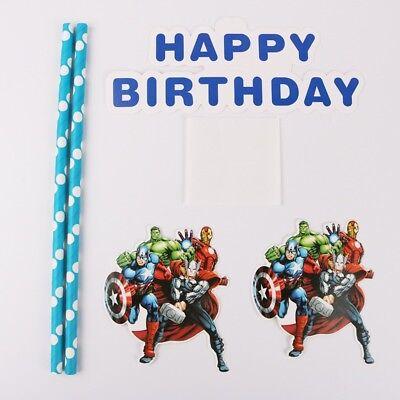 NEW MARVEL Avengers Themed Party Happy Birthday Cake - Avengers Themed Party