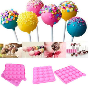 20 Sticks Cake Pop Mould Silicone Lollipop Chocolate Mold Baking Tray Tools YJ