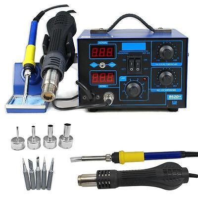 2In1 Smd Soldering Rework Stations Hot Air   Iron Desoldering Welder Tool 862D