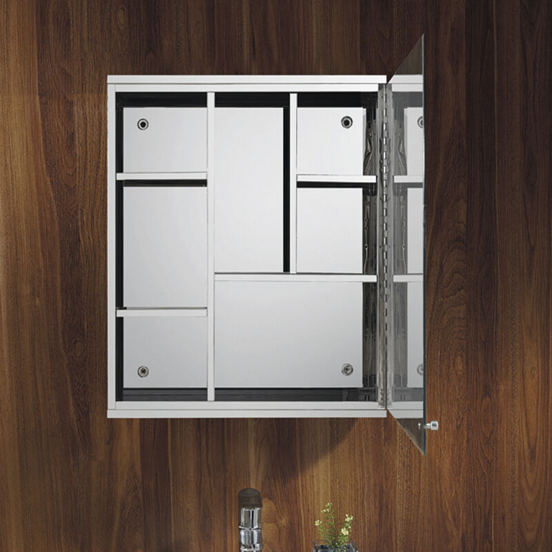 Luxury Stainless Steel Wall Mount Mirror Storage Cupboard Bathroom Cabinet Ebay