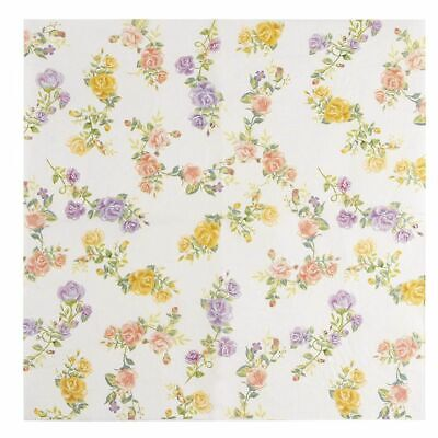 Floral Party Napkins (100-Pack Luncheon Paper Napkins Tea Party Supplies Floral Vintage Roses)