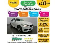 2015 WHITE BMW 218i 1.5 M SPORT PETROL MANUAL 2DR COUPE CAR FINANCE FR £185 PCM