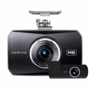 MOMENTO DASH CAM BUNDLE FRONT-REAR CAM 32G SD GPS Ant INSTALLED