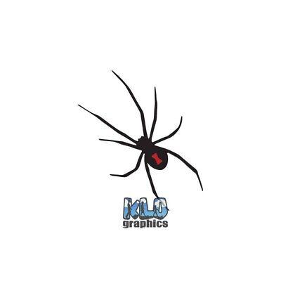 BLACK WIDOW Vinyl Sticker / Decal Spider Sexy Kinky 2 Versions Black Widow Sexy Spider