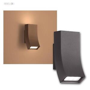 LED-Lampe-de-maison-Applique-murale-Exterieur-OKA-anthracite-2x3W-blanc-chaud