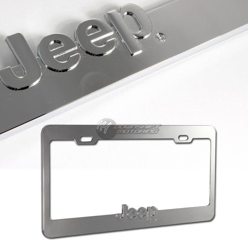 details about jeep logo 3d chrome die cast zinc license plate frame. Cars Review. Best American Auto & Cars Review