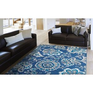 Tremount Navy Blue Area Rug 7'10x10'5 or 5'3x7 '2 Brand New