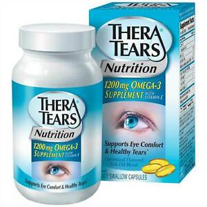 Thera tears nutrition for dry eyes 1200mg softgels omega 3 for Fish oil dry eyes