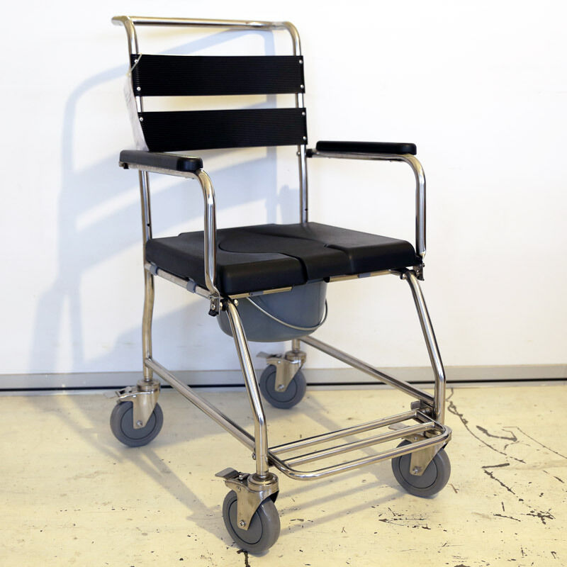 Stainless Steel Commode Wheelchair Bedside Commode Shower...