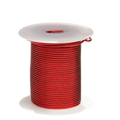 15 Awg Gauge Enameled Copper Magnet Wire 8oz 50 Length 0.0583 155c Red